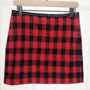 Madewell Gamine Mini Skirt in Buffalo Check Size 2